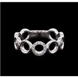 0.08 ctw Diamond Ring - 14KT White Gold