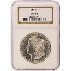 1881-S NGC MS62 Morgan Silver Dollar