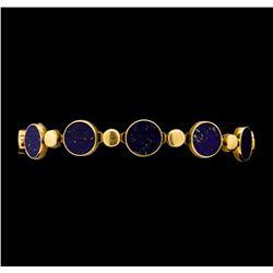 Lapis Lazuli Bracelet - 14KT Rose Gold