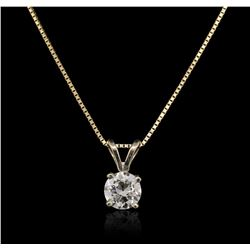 14KT Yellow Gold 0.33 ctw Diamond Pendant With Chain