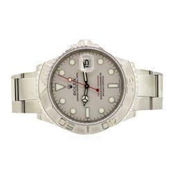 Rolex Stainless Steel and Platinum Yacht Master Cosmograph