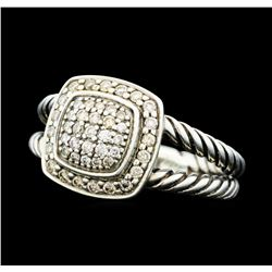 0.29 ctw David Yurman Petite Albion Diamond Ring - Sterling Silver