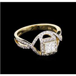 1.17 ctw Diamond Ring - 14KT Yellow Gold