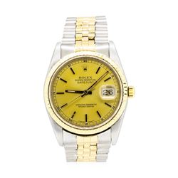 Rolex 18KT Yellow Gold and Stainless Steel Men's Oyster Perpetual Datejust