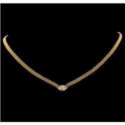 1.00 ctw Diamond Necklace - 14KT Yellow Gold