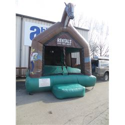 COWBOY THEME BOUNCY PLAYGROUND WITH BALLS  AND 2 PUMPS (SIZE 13' X 14'X  18')