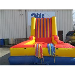 """INFLATABLE VELCRO WALL COMPLETE WITH PUMP AND 2 VELCRO SUITS SIZE (APPROX 15' X 12'X22"""""""
