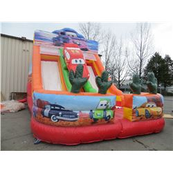 INFLATABLE DESERT AND CAR THEME DUAL SLIDE  SIZE 28' X 1`2' X 40'
