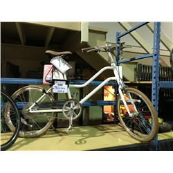 NEW IN BOX  YUNBIKE SURFACE604  C-SERIES WITH LI-ION TECHNOLOGY LADIES WHITE RECHARGEABLE BIKE WITH