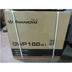 "NEW YAMAKOYO MODEL GWP-100 4"" WATER PUMP WITH 9.0 HP MOTOR 423 GAL/MIN"