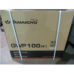 "NEW YAMAKOYO MODEL GWP-100 4""WATER PUMP WITH 9.0 HP MOTOR 423 GAL/MIN"