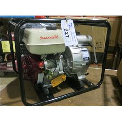 "NEW YAMAKOYO MODEL  TP-80 3"" TRASH PUMP WITH 9.0 HP MOTOR PUMPS 158/GPM"