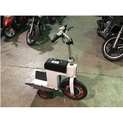 WHITE ACTION 1 SCOOTER (NO CHARGER OR ACCESSORIES)