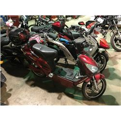 RED VOLTBIKE  METRO+ ELECTRIC  SCOOTER   (NO  REGISTRATION OR KEY OR CHARGER)