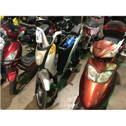 SILVER JETSON ELECTRIC  SCOOTER   (NO  REGISTRATION OR KEY OR CHARGER)