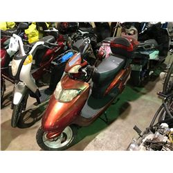 RED VELOCITY ELECTRIC  SCOOTER   (NO  REGISTRATION OR KEY OR CHARGER)