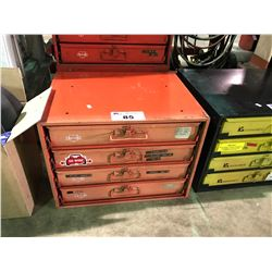 WURTH 4 DRAWER HARDWARE ORGANIZER WITH CONTENTS