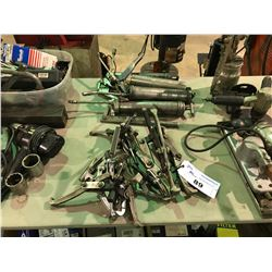 5 ASSORTED PULLERS/4 GREASE GUNS