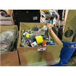 BOX OF ASSORTED CAR PARTS FOR IMPORTS & VOLKSWAGENS