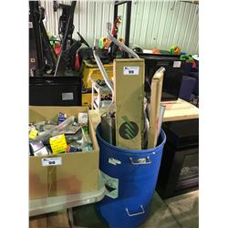 BOX OF ASSORTED CAR PARTS/MUFFLERS FOR IMPORTS & VOLKSWAGENS