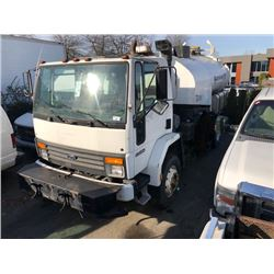 1993 FORD 2WHDR, SWEEPER, WHITE, DIESEL, AUTOMATIC, VIN#1FDXH70PXPVA14221, 158,203 MILES, RD, 1