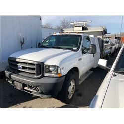 2003 FORD 2WHDR DUMP TRUCK, WHITE, GAS, AUTOMATIC, VIN#1FDXF46S73EC64168, 122,273KMS, RD, 1 ICBC