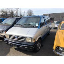 1993 FORD AEROSTAR MINIVAN, BLUE, GAS, AUTOMATIC, VIN#1FMDA41X3PZB19857, 301,097KMS,