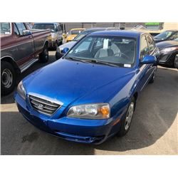 2006 HYUNDAI ELANTRA, BLUE, 4 DOOR SEDAN, GAS, AUTOMATIC, VIN#KMHDN45D96U251277, 177,166KMS,