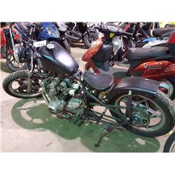 CUSTOM MOTORCYLE, TMU, STARTS, HAS KEY, CLUTCH DOES NOT ENGAGE, AND NO REGISTATION
