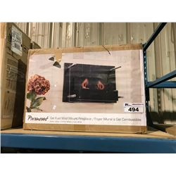 "BOXED PARAMOUNT DECORATIVE 23.6"" X 8.3"" X 15.75"" GEL FUEL WALL MOUNT FIREPLACE"