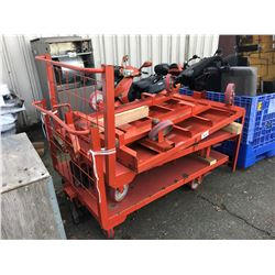 3 HEAVY DUTY WAREHOUSE CARTS