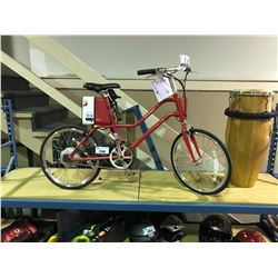 NEW RED  YUNBIKE SURFACE604 C SERIES WITH LI-ION TECHNOLOGY RECHARGEABLE  LADIES BIKE