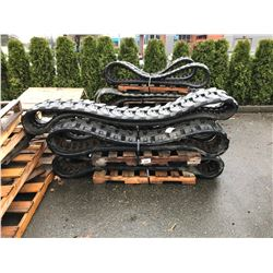 5 PALLETS OF INDUSTRIAL RUBBER TRACKS
