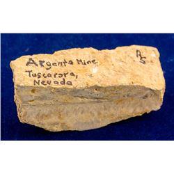 Second Argenta Mine Gold Specimen, Tuscarora, Nevada