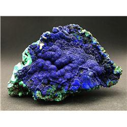 Azurite and Malachite from Liufengshan Mine, China