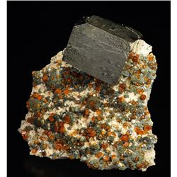 Spessartine and Pyrite from Wushan Spessartine Mine, China