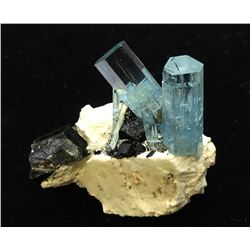 Beryl v. Aquamarine and Schorl from Namibia