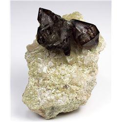 Quartz v. Amethyst, Smoky from Namibia
