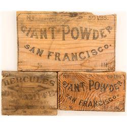 Antique Dynamite Box Ends