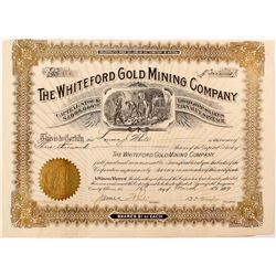 Whiteford Gold Mining Company Stock Certificate