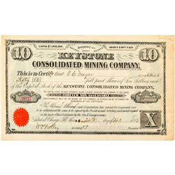 Keystone Consolidated Mining Company Stock Certificate