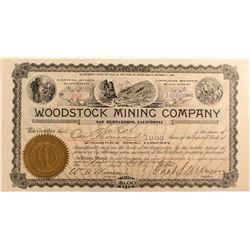 Woodstock Mining Co. Stock, San Bernardino, Cal. 1903