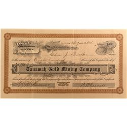 Tanawah Gold Mining Co. Stock, Mono County, Cal. 1914