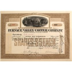 Furnace Valley Copper Co. Stock Certificate, Death Valley 1908