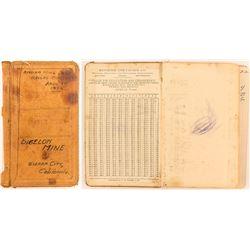 Bigelow Mine Record Book