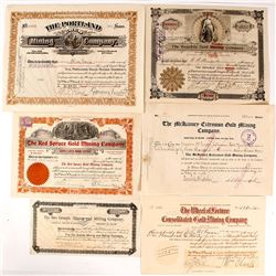 Cripple Creek Mining Stock Certificates
