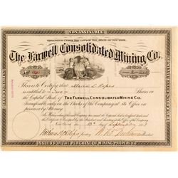 Farwell Consolidated Mining Co. Stock Certificate (Independence, Colorado)