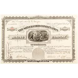 The Silver Cord Combination Mining Company of Colorado Stock Certificate