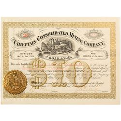 Chieftain Consolidated Mining Company of Colorado Stock Certificate