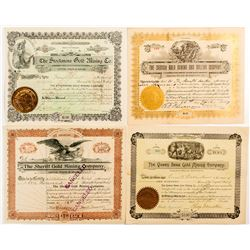 Colorado Mining Stock Certificates (4 Different)